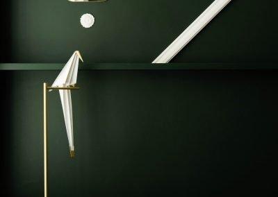 dark green wall colour