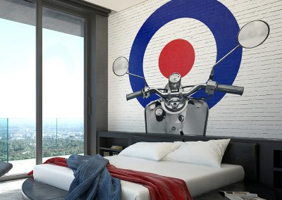 Mod Times Scooter Wall Mural