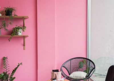 trendy pink wall