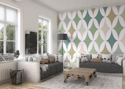 Green Formation Wall Mural